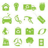 Recycling and clean environment icon set Royalty Free Stock Images