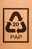 Recycling code Stock Photography