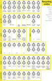 Recycling codes. All recycling code can be found here, along with pictograms. Each codes are separated  and each specific use. All different code groups is Stock Photography