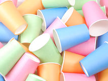 Recycling colorful paper glass. Many of recycling colorful paper glass Stock Photos