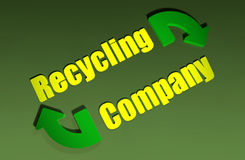 Recycling Company Design Stock Photography
