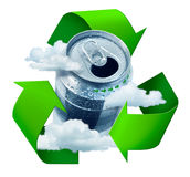 Recycling concept. Recycling prevents climate change concept  symbol arrows Royalty Free Stock Photo