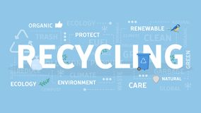 Recycling concept illustration. Idea of environment protection Royalty Free Stock Images