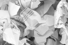Recycling concept with lots of  paper Royalty Free Stock Photography