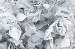Recycling concept with lots of  paper Stock Image