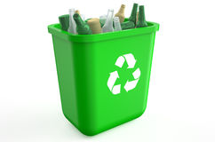 Recycling container with glass bottles Stock Image