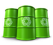 Recycling containers Royalty Free Stock Photo