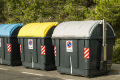 Recycling containers Stock Images