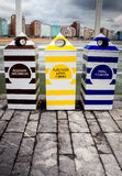 Recycling containers Royalty Free Stock Photography