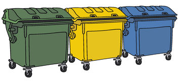 Recycling containers Royalty Free Stock Image