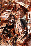 Recycling of copper and copper alloys. The entire economy of the copper and copper alloy industry is dependent on the economic recycling of any surplus products stock images