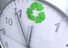Recycling countdown Stock Images