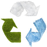 Recycling. Digital Composite from Recycle Symbol Stock Photography