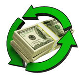 Recycling dollar Stock Photo