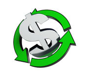 Recycling dollar Royalty Free Stock Photo