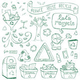 Recycling Doodles Stock Photos