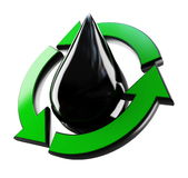 Recycling drop of oil Stock Image