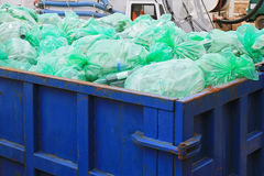 Recycling dumpster Royalty Free Stock Images