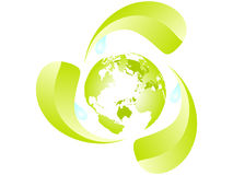 Recycling the earth Royalty Free Stock Image