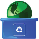 Recycling Earth 3 Stock Images