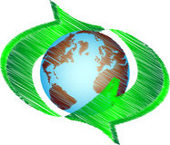 Recycling earth. Abstract Recycling earth - vector illustration Royalty Free Stock Photos