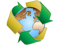 Recycling earth. Nice recycling earth - vector illustration Stock Photos