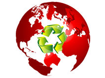 Recycling the earth Stock Photo