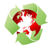 Recycling the earth Stock Image