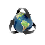 Recycling earth globe isolated Stock Photography