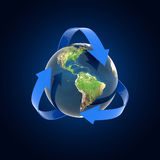 Recycling earth globe isolated Stock Images
