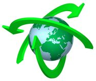 Recycling Earth. Symbol sign concepts ideas arrow Stock Image