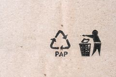 Recycling and eco sybols Royalty Free Stock Photo