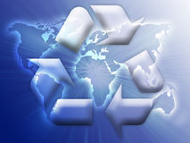 Recycling eco symbol Royalty Free Stock Photo