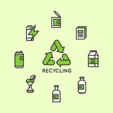 Recycling Ecological Concept Royalty Free Stock Images