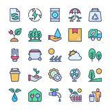 Recycling and ecology icons bundle stock illustration