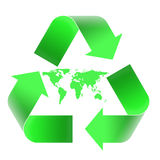 Recycling emblem Royalty Free Stock Photo
