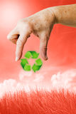 Recycling and environment Royalty Free Stock Photography