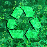 Recycling Frenzy Stock Photo