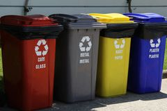 Recycling garbage Royalty Free Stock Photography