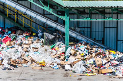 Recycling garbage facility Stock Photo
