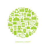Recycling garbage icons. Concept. Waste utilization. Vector illustration Stock Images