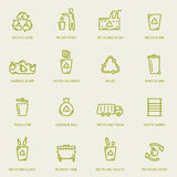 Recycling garbage icons set Stock Image