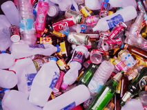 Recycling garbage and reusable waste. Royalty Free Stock Photography