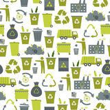 Recycling garbage seamless pattern Royalty Free Stock Photos