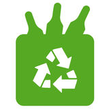 Recycling glass bottles. Green symbol Royalty Free Stock Image