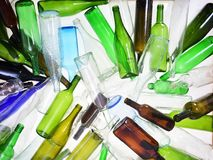 A recycling glass. Close up of a recycling glass royalty free stock images