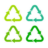 Recycling green arrows symbol Royalty Free Stock Photo