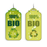 Recycling Green Tag Icons Royalty Free Stock Photo