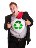 Recycling guy Royalty Free Stock Image