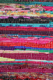 Recycling, handmade colorful ethnic retro rug Royalty Free Stock Image